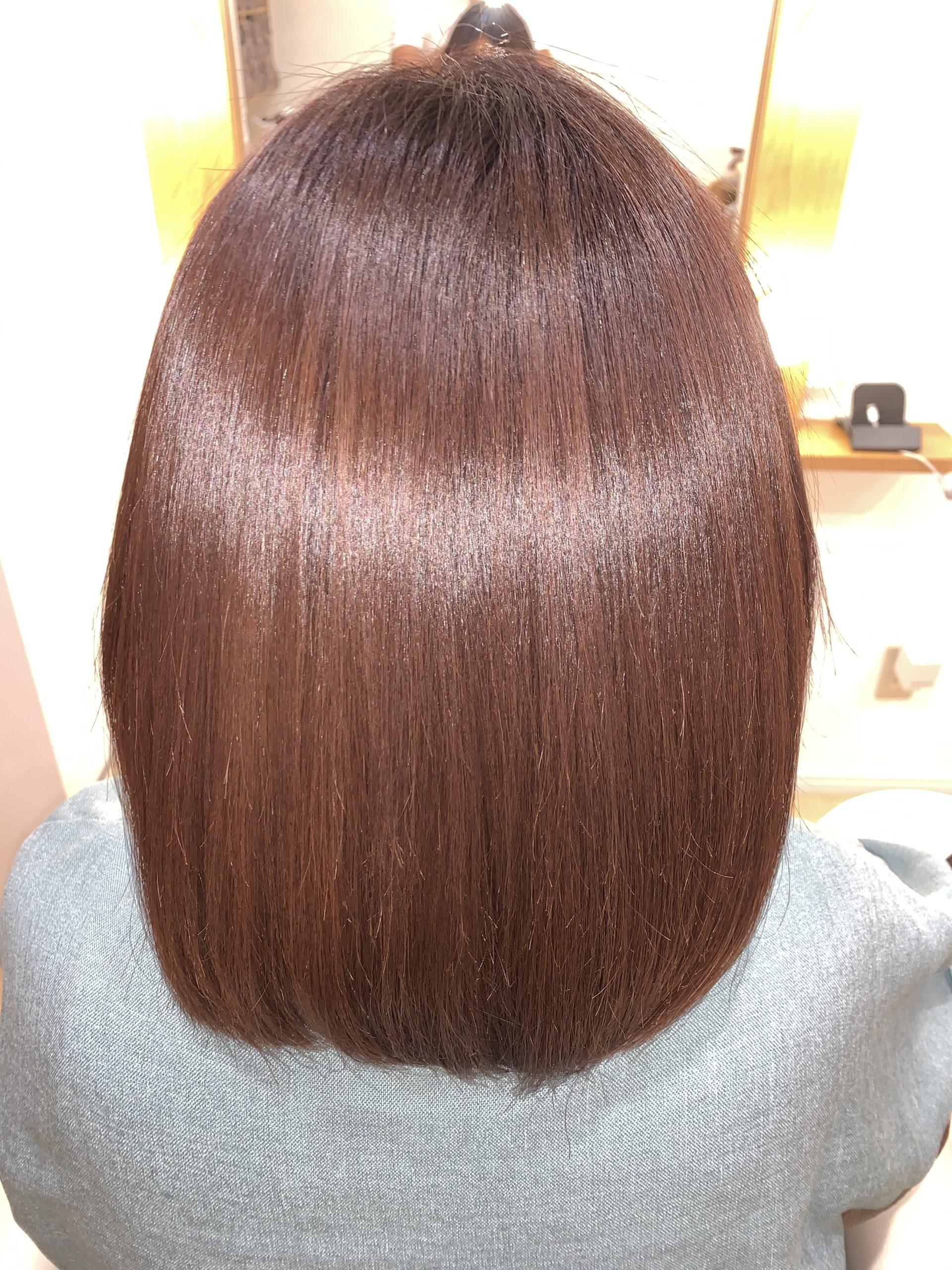 硬い髪質でも改善